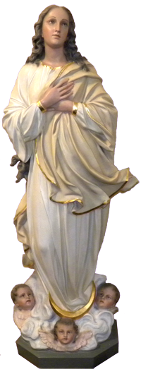 Statue from the Original Church in 1901