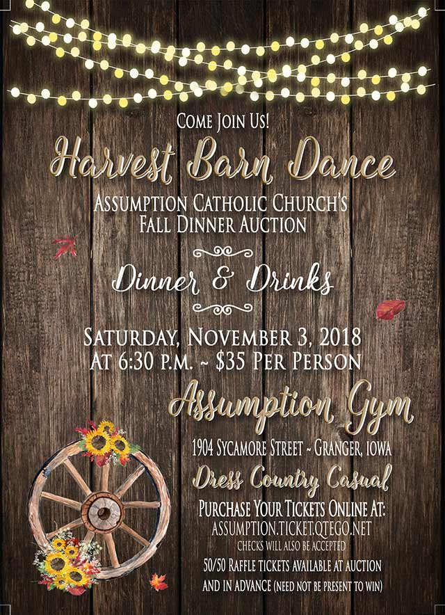 Assumption Harvest Barn Dance Auction – November 3rd, 2018